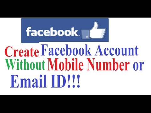 How to Create Facebook Account Without Email or Mobile Number