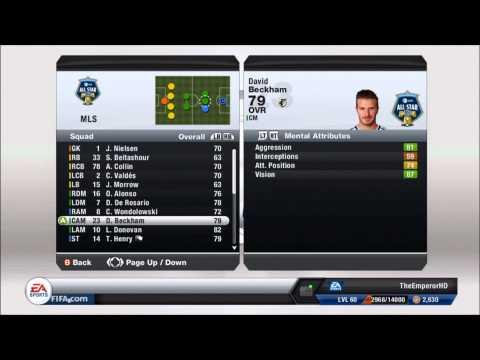FIFA 13 New All Star Team MLS All Stars Stats