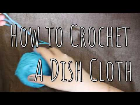 Learn how to Crochet for Beginners: DISH CLOTH  |   Last Minute Laura