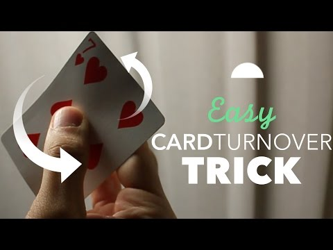 Easy Waving One Card Manipulation Trick (Cardistry Tutorial for Beginners)