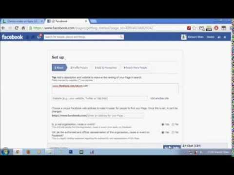 how to Create Fanpage Facebook No Name-Facebook Trick