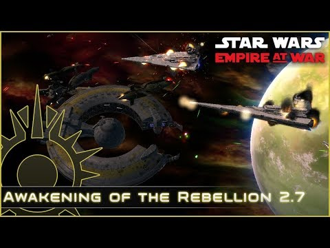 Lucrehulk vs Star Destroyers - Ep 6 - Awakening of the Rebellion 2.7 - Star Wars Empire at War Mod