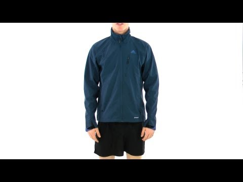 Adidas Men's Hiking/Trekking Soft Shell Running Jacket | SwimOutlet.com