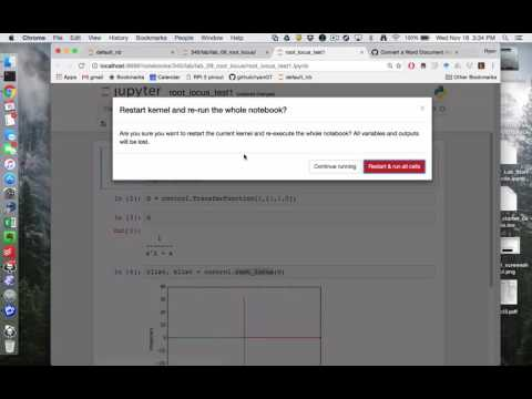 Root Locus from the IPython/Jupyter Notebook