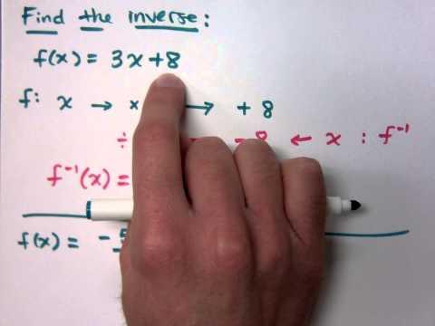 College Algebra - Part 136 (Inverse Functions)
