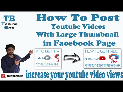 How To Post Youtube Videos With Large Thumbnail in Facebook Page [Hindi]