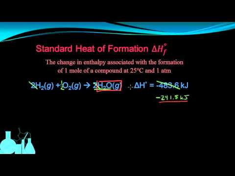 Chemistry 10.7a Standard Heat of Formation