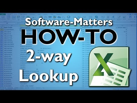How to do a 2-way Lookup in Excel - Advanced MATCH and VLOOKUP Tutorial