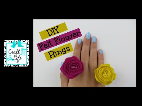 Craft Life ~ DIY Felt Flower Rose Ring Tutorial
