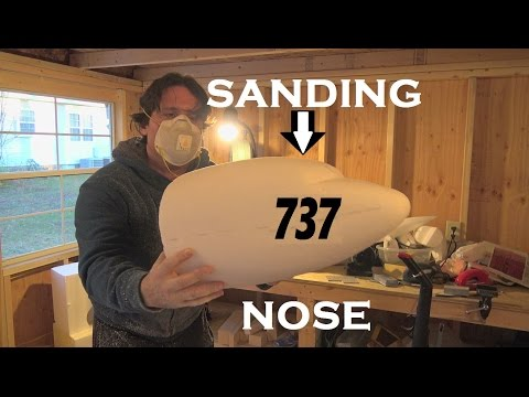 RC BOEING 737 MAX Airplane NOSE SANDING!