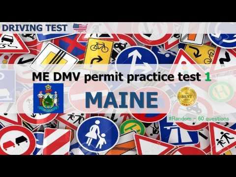 Maine DMV permit practice  test 1 (random 60 questions)