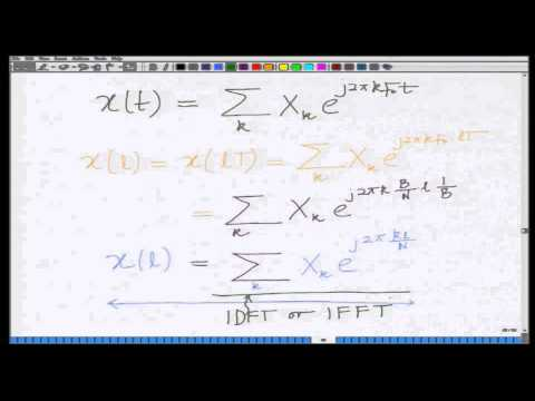 Lecture 47: FFT/IFFT Processing in OFDM
