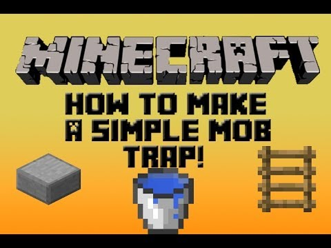 Minecraft Tutorial: How To Make A Simple Mob Trap/Grinder (2014) (HD) (1.7.5)