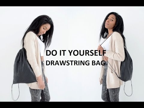 DIY ACCESSORY | HOW TO MAKE A DRAWSTRING BAG ( SCHOOL BACKPACK )