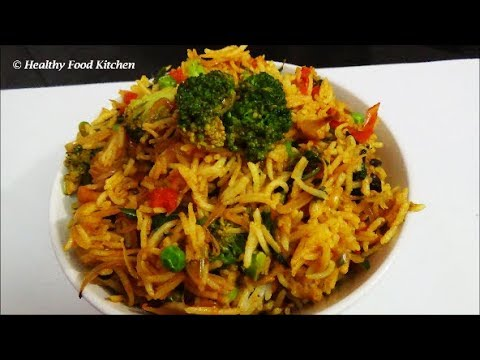 Biryani Recipe in Tamil/Broccoli Biryani Recipe-Variety Rice Recipe-Broccoli Recipe