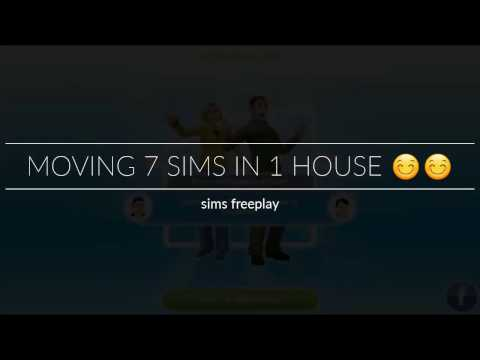 Moving 7 Sims in 1 house | Sims Freeplay
