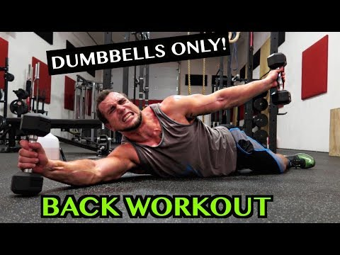 Intense 5 Minute Dumbbell Back Workout #2