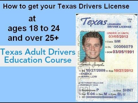 ★ Discover How to get Texas Drivers License video at ages 18 to 24 and over 25 - Driving Test at DPS
