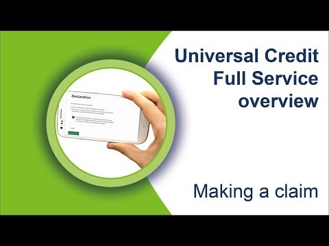 How to make a claim (Universal Credit full service)