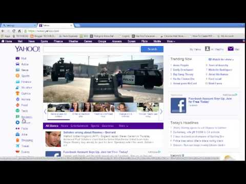 Make Yahoo My Home page On Google Chrome