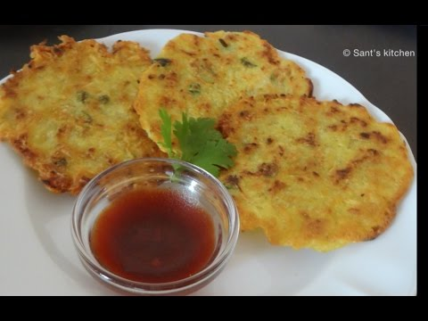 Vegetarian potato pancakes / vegan potato pancakes.
