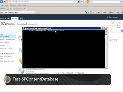 Sharepoint Database attach upgrade