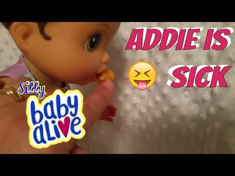 😝  Baby Alive Addie is Sick and Throwing Up