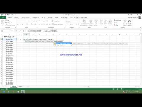 HOW TO COMPARE TWO FILE IN EXCEL USING VLOOKUP IN HINDI 7506247069