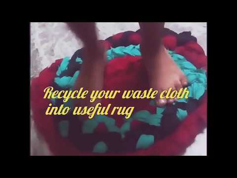 Recycle your old cloth to a useful rug | Rag to Rug | Braided Rag Rug | Sew your own Doormat