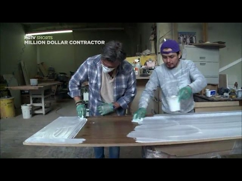 How to Apply a Ceruse Finish | Million Dollar Contractor | HGTV Asia