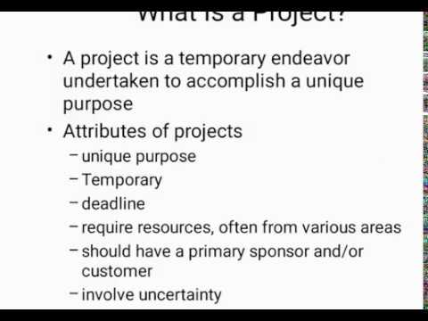 What is a Project? Attributes of projects? Software Project Management Tutorial #1