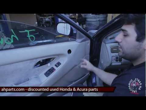 How to fix replace install broken power window regulator motor Honda Accord 1998 1999 2000 2001 2002