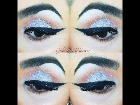 ♡♡WINGED LINER & LASHES+ glitter eyes