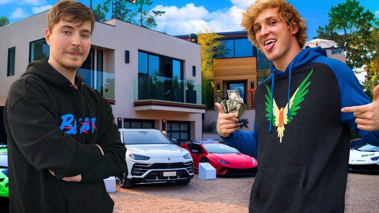 10 Richest YouTubers of 2020 (Logan Paul, MrBeast, PewDiePie, David Dobrik)