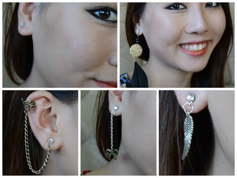 DIY: FAKE Magnetic Earrings! (Cartilage, Feather Earrings, Studs)