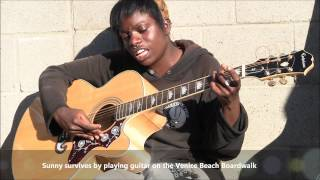 "Bob Marley Redemption Song ""by Amazing Homeless Girl In Voices In The Sand, America The Free"""