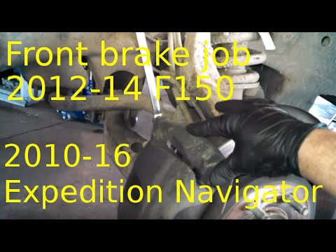 Front brake pad replacement 2012 - 1014 Ford F150 Install front brake pads