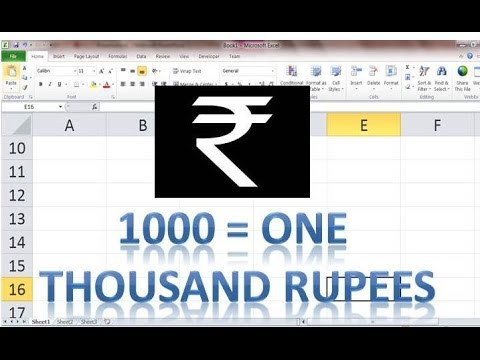 MS Excel Currency Converter  Number to Text  - spell number