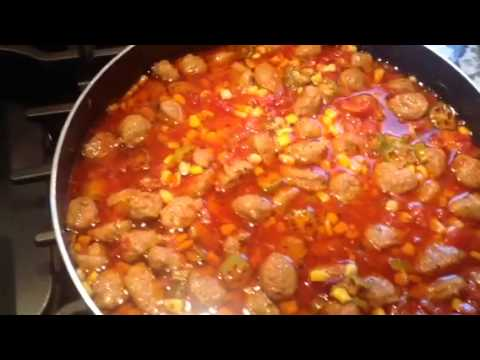 Southern style sausage with tomato and okra