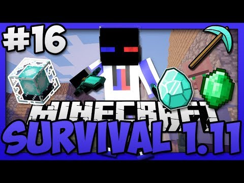 Minecraft - Survival Vanilla Version 1.11 (Singleplayer)  - Beacon Mining in an Extreme Hills Biome!