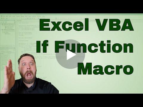 #3 VBA   Excel If Function in VBA code
