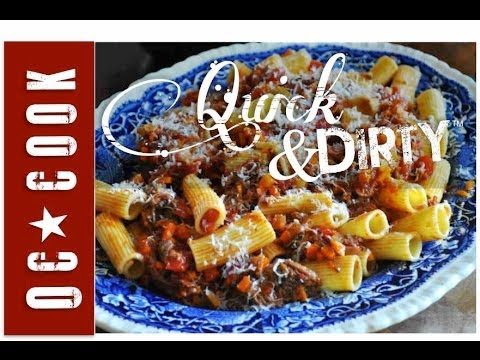 How to Make Rigatoni with Slow Cooked Beef Ragu - ORANGE COUNTY COOK - QUICK & DIRTY #7