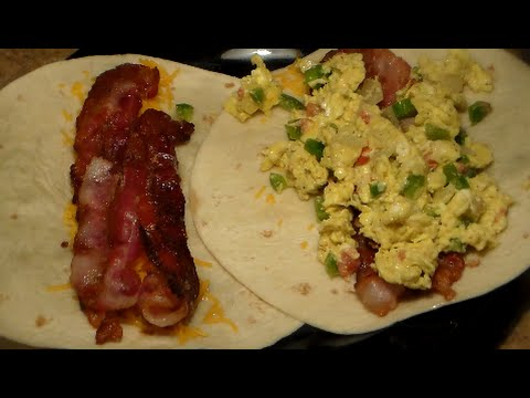 How To Make A Jumbo Breakfast Wrap: Delicious Bacon Egg & Cheese Breakfast Burrito