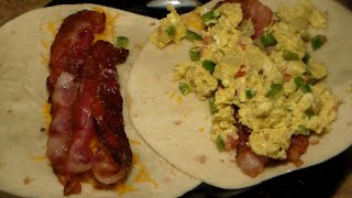 How To Make A Breakfast Wrap Delicious Bacon Egg Cheese Breakfast Bur