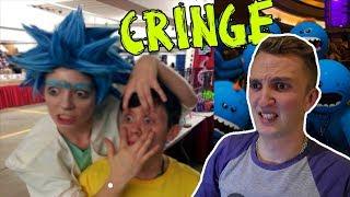 Reacting To Rick & Morty Fans **cringe warning**