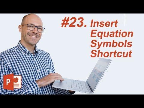 #23: Insert Symbols Shortcut (Microsoft PowerPoint Shortcuts)