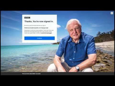 I create a BBC iPlayer ID to test the verification process.