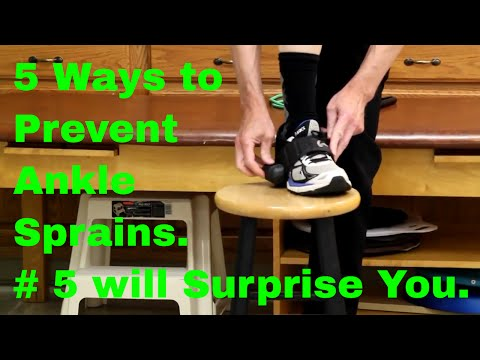 5 Ways to Stop Ankle Sprains. Number 5 will Surprise You.