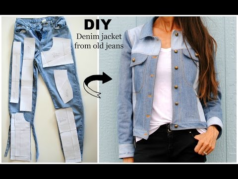 Upcycled denim jacket from old jeans