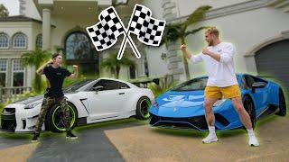 1000HP Lamborghini VS 1000HP GTR Street Race! (Who's Faster?)